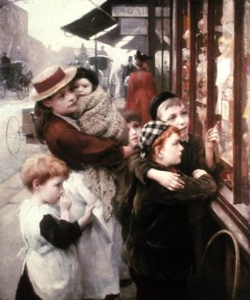 The Toy Shop | Thomas Benjamin Kennington | oil painting