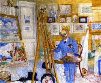 The Skeleton Painter | James Ensor | oil painting