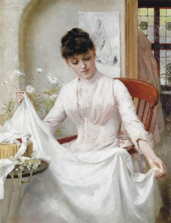 The Wedding Dress | Thomas Benjamin Kennington | oil painting