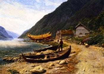 Gravensfjord | Thomas Fearnley | oil painting