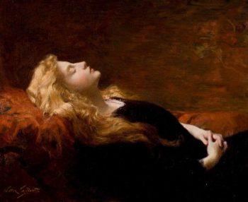 Sleeping Beauty | Victor Gabriel Gilbert | oil painting