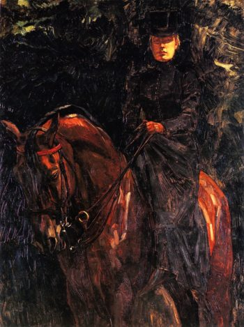 Ida Gorz on Horseback | Wilhelm Trubner | oil painting