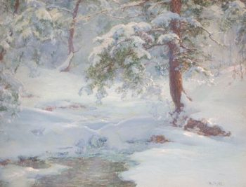 A Winter Idyll | Walter Launt Palmer | oil painting