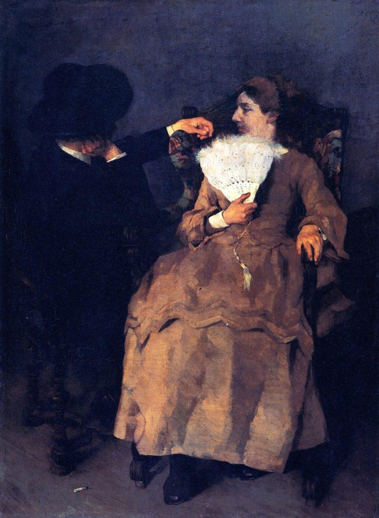 In the Studio | Wilhelm Trubner | oil painting