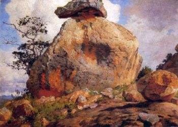 A Rock on the Lukenia Hills | William Robinson Leigh | oil painting