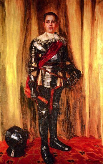 Jorg Trubner in Rustung | Wilhelm Trubner | oil painting