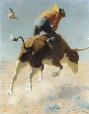 A Wild Texas Steer | William Robinson Leigh | oil painting