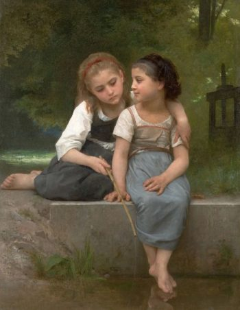 Fishing for Frogs | William Bouguereau | oil painting