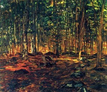Forest Interior Wilhelm Trubner