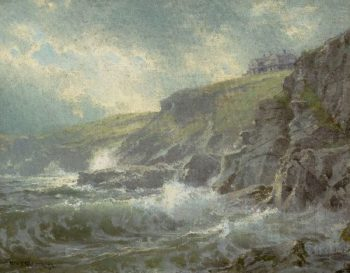 View of the Artists Home Graycliff Newport Rhode Island | William Trost Richards | oil painting