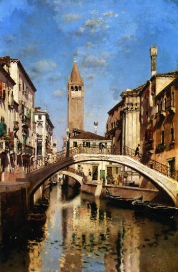 Venetian Canal | Martin Rico y Ortega | oil painting