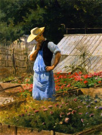 Un coin de la roserai a Bagatelle | Henri Adolphe Laissement | oil painting