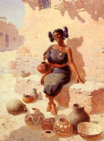 Hopi Pottery Merchant | William Robinson Leigh | oil painting