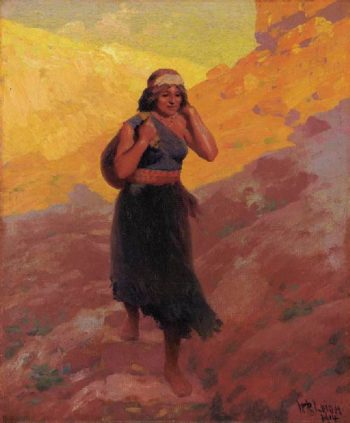 Hopi Water Carrier | William Robinson Leigh | oil painting