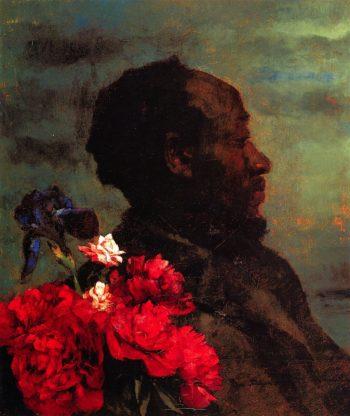 Moor with Peonies | Wilhelm Trubner | oil painting