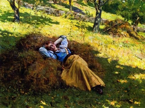 Daydreaming | Henry Mosler | oil painting
