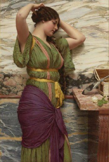 A Fair Reflection   John William Godward   oil painting