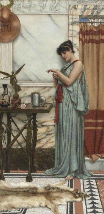 His Birthday Gift   John William Godward   oil painting