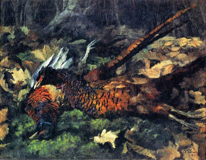 Pheasants   Wilhelm Trubner   oil painting
