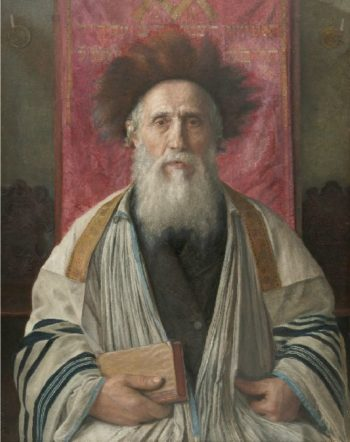 Portrait of a Rabbi | Isidor Kaufmann | oil painting