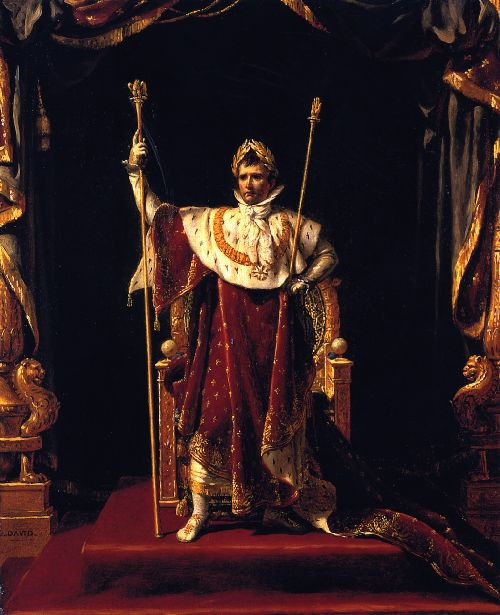 Napoleon I in His Imperial Robes | Jacques Louis David | oil painting