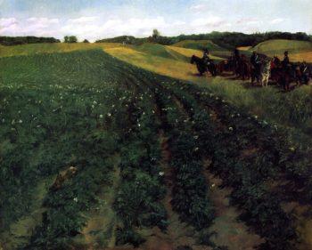 Potato Farm in Wessling | Wilhelm Trubner | oil painting