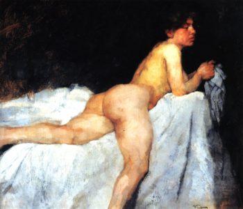 Reclining Nude | Wilhelm Trubner | oil painting