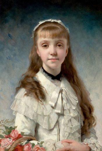La Fille du Peintre | Charles Chaplin | oil painting