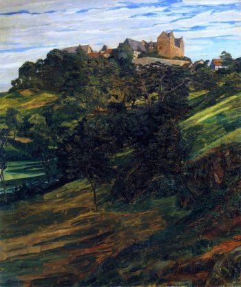 Schlob Lichtenberg im Odenwald | Wilhelm Trubner | oil painting