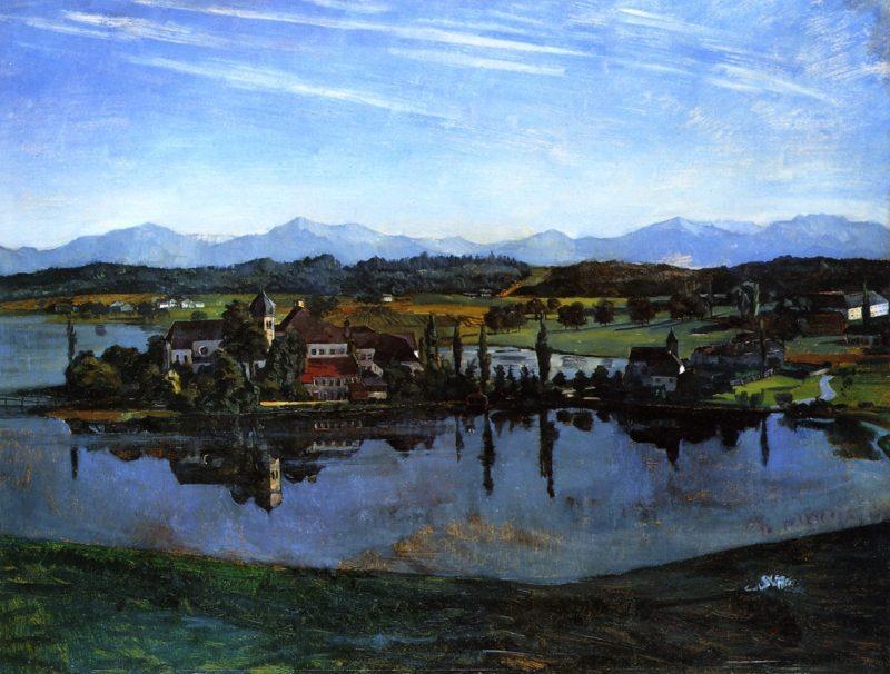 Seeon Abbey   Wilhelm Trubner   oil painting