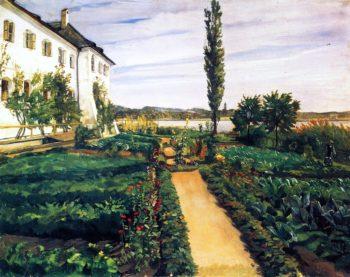 Seeon Monastery Garden | Wilhelm Trubner | oil painting