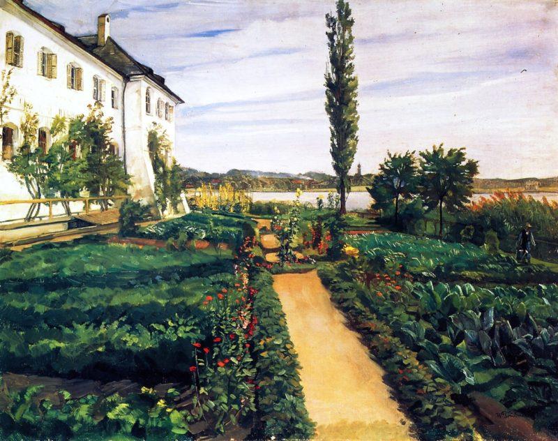 Seeon Monastery Garden   Wilhelm Trubner   oil painting