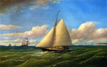 Ships at Gay Head | Charles Henry Gifford | oil painting