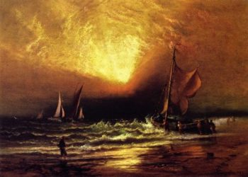 Sunset on the Coast | Charles Henry Gifford | oil painting