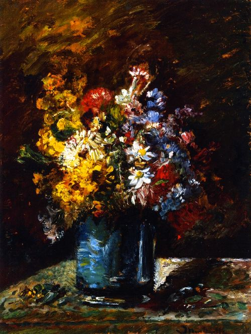 Various Flowers | Adolphe Joseph Thomas Monticelli | oil painting