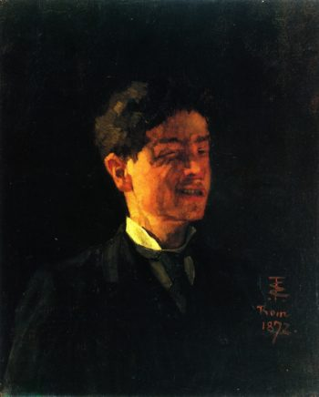 Self Portrait with Squinted Eye | Wilhelm Trubner | oil painting