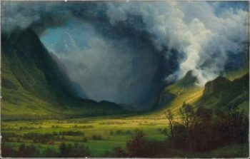 Storm in the Mountains | Albert Bierstadt | oil painting