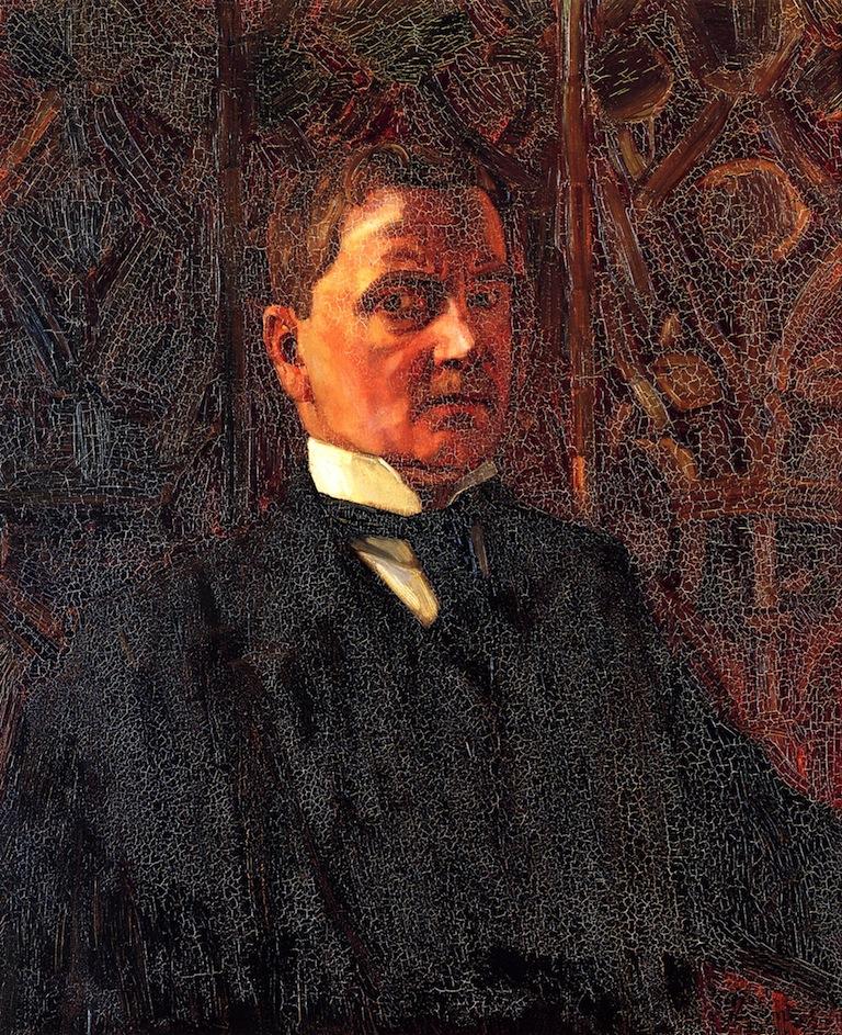 Self Portrait   Wilhelm Trubner   oil painting