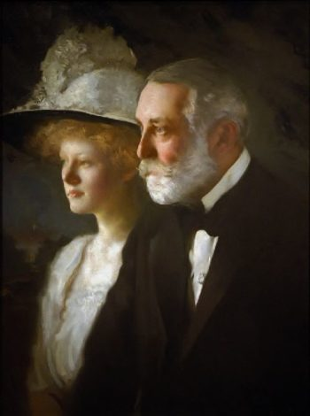 Clay Frick with his daughter Helen Clay Frick | Edmund Tarbell | oil painting