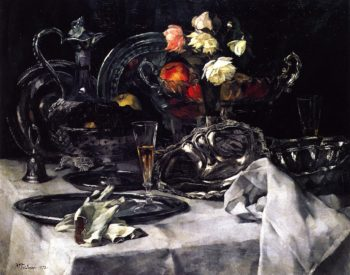 Silver and Roses | Wilhelm Trubner | oil painting