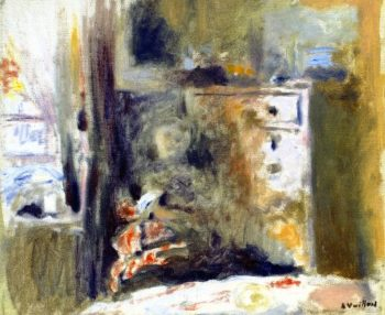 Interior with Woman Sewing | Edouard Vuillard | oil painting