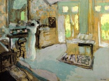 Lucie Hessel Putting on Her Hat | Edouard Vuillard | oil painting