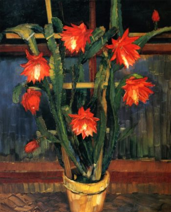 Still Life with Cactus | Wilhelm Trubner | oil painting