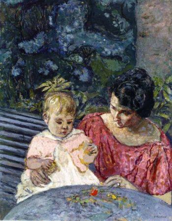 Madeleine Descorps and Her Son Bernard | Edouard Vuillard | oil painting