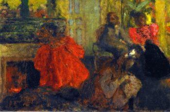 The Alexandre Natanson Family Rue Saint Florentin   Edouard Vuillard   oil painting