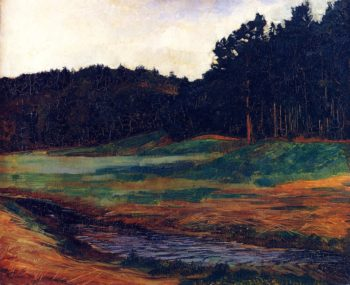 The Edge of the Woods at Obing   Wilhelm Trubner   oil painting