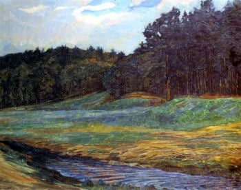 The Edge of the Woods   Wilhelm Trubner   oil painting
