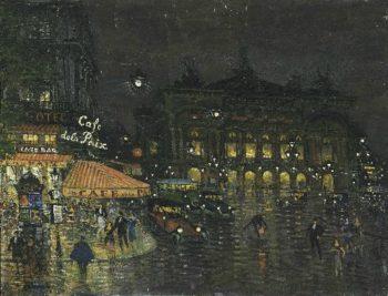 Cafe de la Paix Paris | Constantin Alexeevich Korovin | oil painting