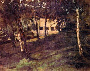 WirtschaftsgebaBayerische Staatsgemaldesammlungenude auf der Herreninsel im Chiemsee II   Wilhelm Trubner   oil painting