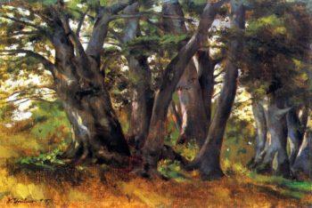 Buchen bei Bernried | Wilhelm Trubner | oil painting